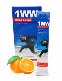Płynna glukoza 1WW o smaku pomarańczowym 10 saszetek