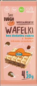 BIO Wafelki z kremem kakaowo orzechowym BEZ DODATKU CUKRU