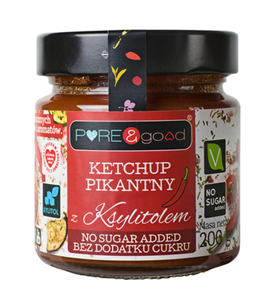 Ketchup pikantny z ksylitolem PURE&good (1)