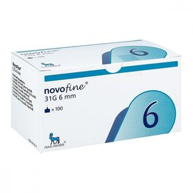 Novofine 6 igły 31g x 6 mm