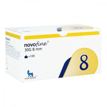Novofine 8 igły 30G 0,3 x 8mm  (1)