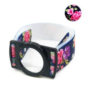 Opaska zabezpieczająca sensor Freestyle Libre czarna kwiaty 2