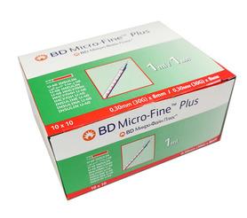 Strzykawki insulinowe BD Micro-Fine Plus 1ml 100 szt. U-40