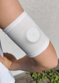 Opaska ochronna na sensor, szyta na wymiar jasny kremowy