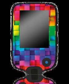 Naklejka na czytnik Freestyle Libre Kolorowe klocki