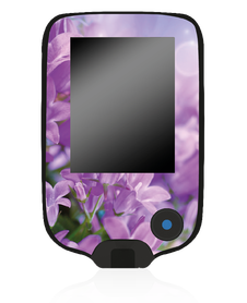 Naklejka na odbiornik - Fioletowe Kwiaty