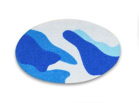Plastry łezka - wzór niebieskie fale