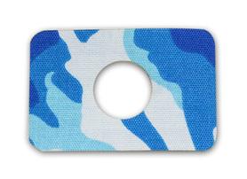 Plastry z otworem - niebieskie fale