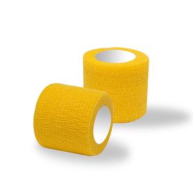Bandaż adhezyjny żółty / rolka szer. 5 cm
