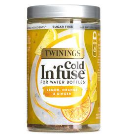 Naturalna Owocowa Herbata na Zimno - Cytryna, Pomarańcza, Imbir