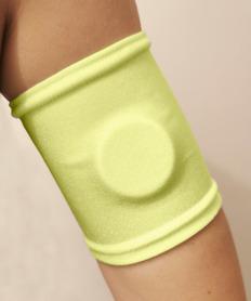Opaska ochronna na sensor, szyta na wymiar jaskrawy żółty