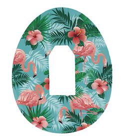 Dexcom G4, G5, G6 plastry ochronne Flamingi