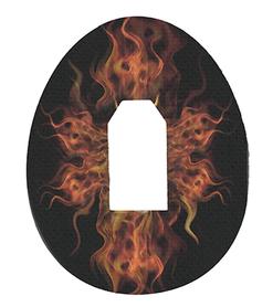 Dexcom G4, G5, G6 plastry ochronne Ogień