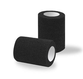 Bandaż adhezyjny czarny classic / rolka szer. 7,5 cm