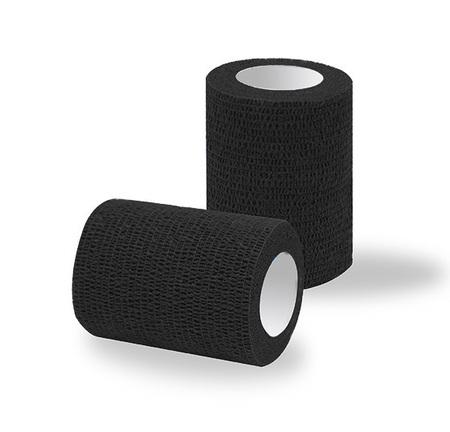 Bandaż adhezyjny czarny classic / rolka szer. 7,5 cm (1)