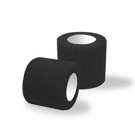 Bandaż adhezyjny czarny classic / rolka szer.5 cm