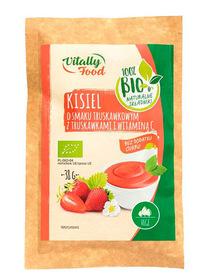 Ekologiczny kisiel o smaku truskawkowym z truskawkami i witaminą C bez dodatku cukru BIO Vitally Food marki Wodzisław