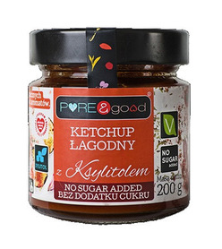 Ketchup łagodny z ksylitolem PURE&good