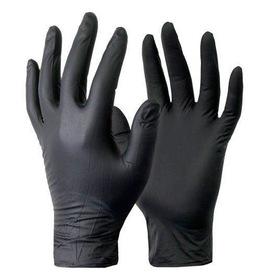 Rękawiczki nitrylowe czarne 10 szt.