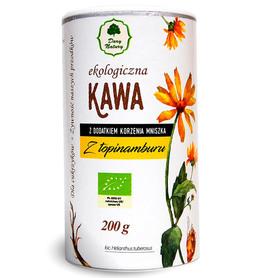 Polecana dla diabetyków kawa z topinamburu. Bulwy topinamburu zawierają inulinę, żelazo, potas, są również bogate w witaminę c i B1.