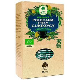Ziołowa herbatka polecana dla diabetyków, poprawiająca metabolizm węglowodanów.