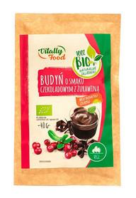 BIO Budyń o smaku czekoladowym z żurawiną bez dodatku cukru Vitally Food
