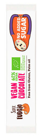 BIO Czekoladowy baton kokosowy bez dodatku cukru Super Fudgio (1)
