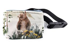 Saszetka na pompę dla diabetyka Las Niedźwiedź z elastyczną gumą