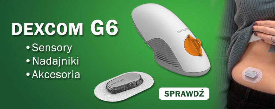 Dexcom G6 sensor do monitorowania glikemii dla diabetyków